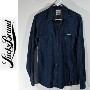 Lucky Brand Men's Western Long Sleeve Shirt